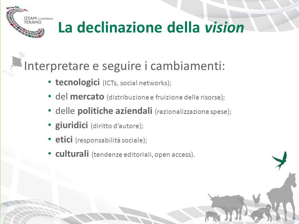 La declinazione della vision