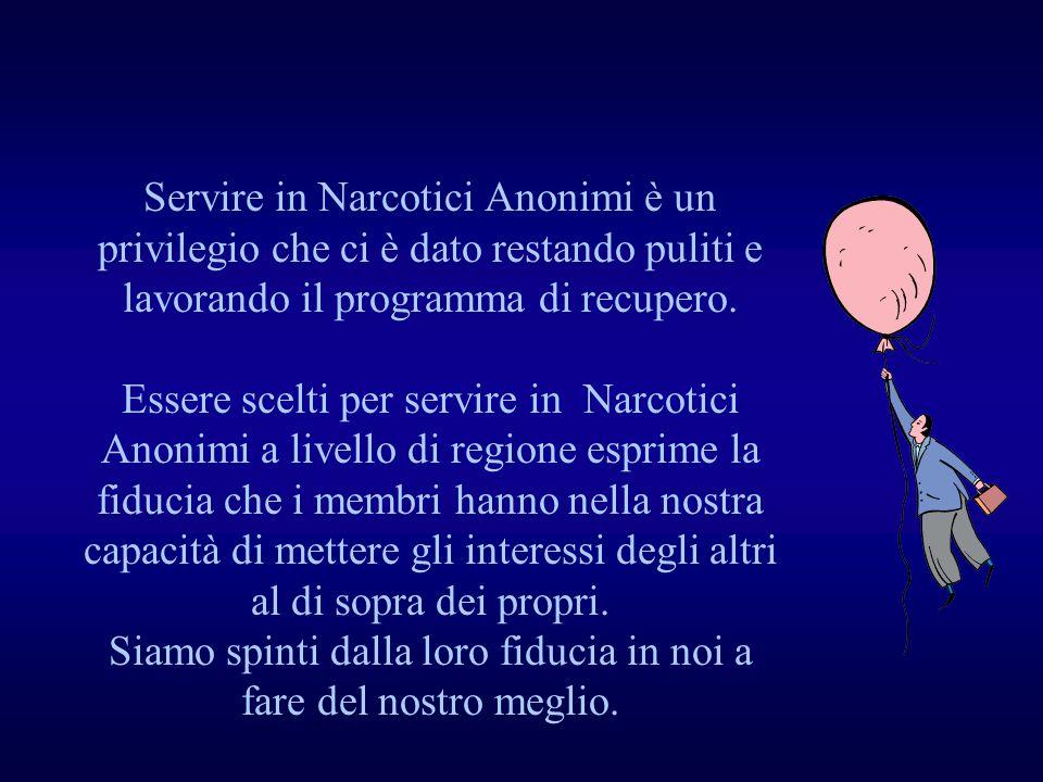 Servire in Narcotici Anonimi è un privilegio che ci è dato restando puliti e lavorando il programma di recupero.