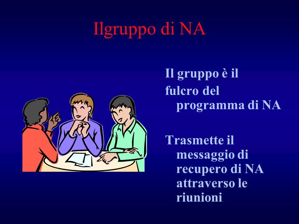 Ilgruppo di NA Il gruppo è il fulcro del programma di NA