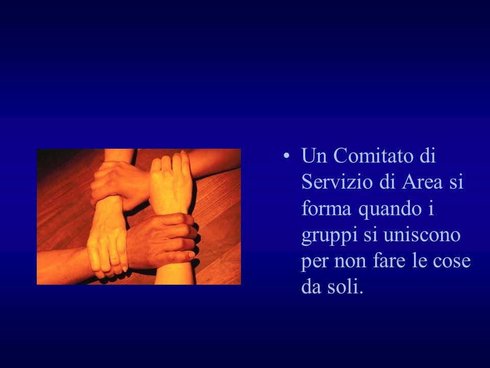 Un Comitato di Servizio di Area si forma quando i gruppi si uniscono per non fare le cose da soli.