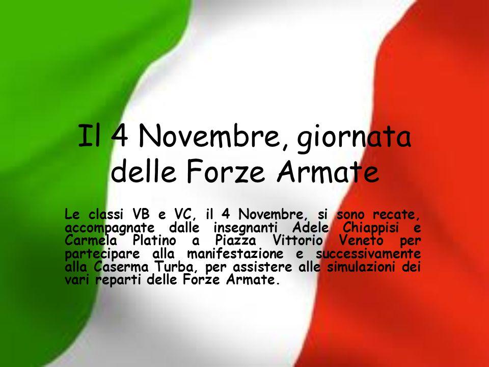 Il 4 Novembre, giornata delle Forze Armate