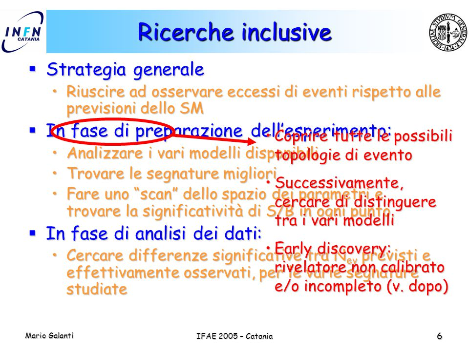 Ricerche inclusive Strategia generale