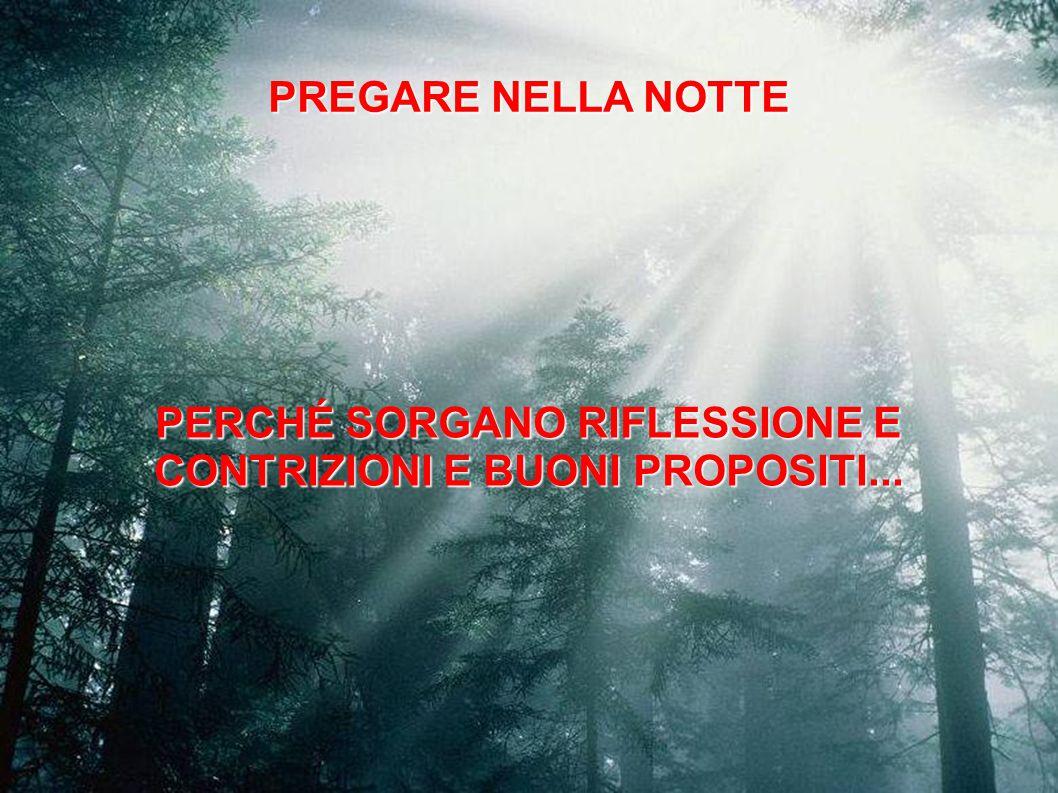 PERCHÉ SORGANO RIFLESSIONE E CONTRIZIONI E BUONI PROPOSITI...