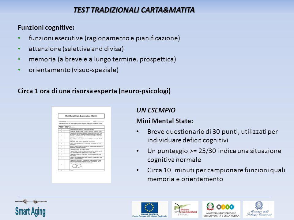TEST TRADIZIONALI CARTA&MATITA