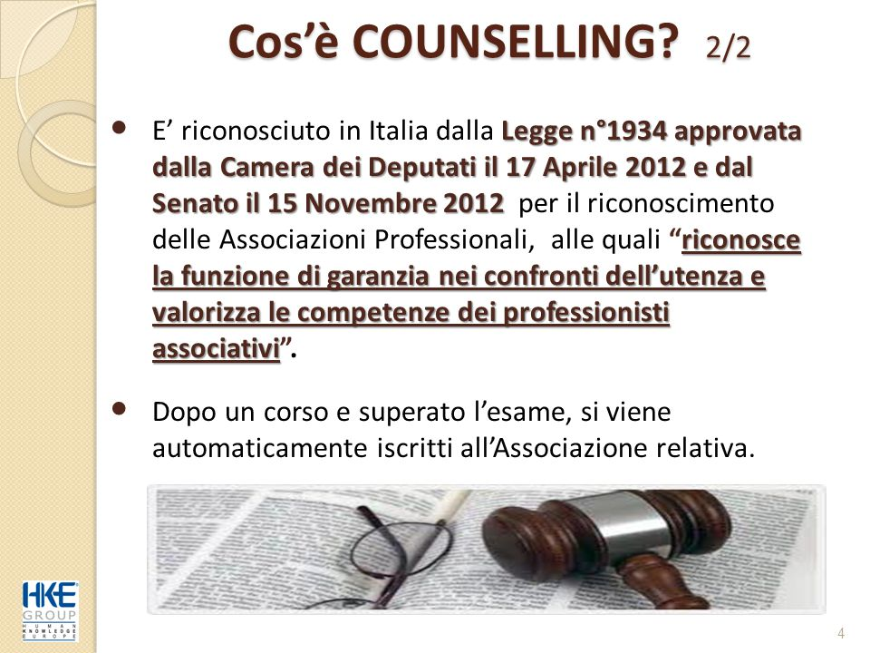 Cos'è COUNSELLING 2/2