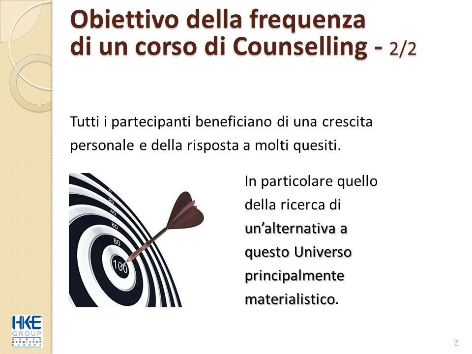 Obiettivo della frequenza di un corso di Counselling - 2/2
