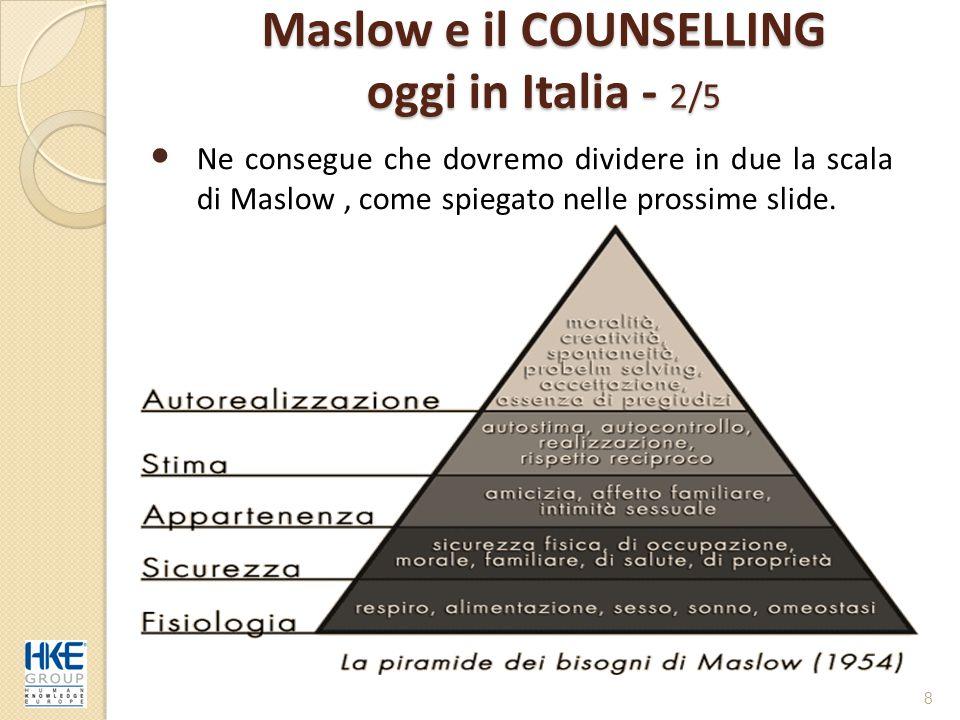 Maslow e il COUNSELLING oggi in Italia - 2/5