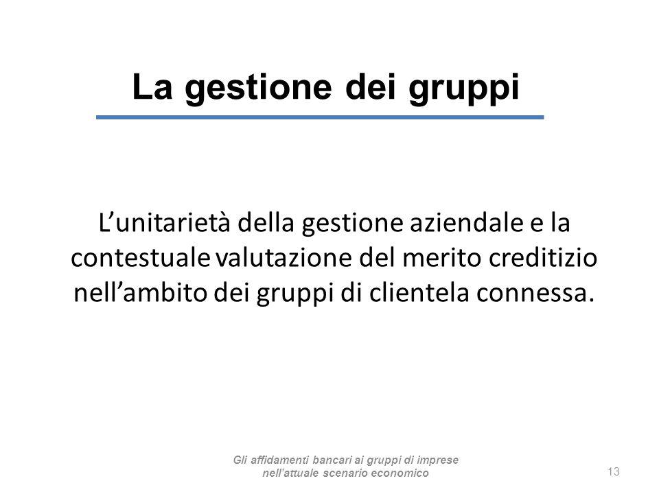 La gestione dei gruppi