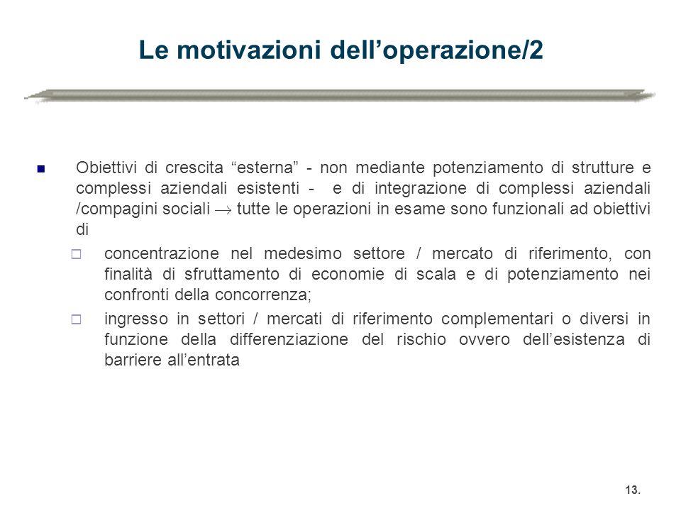 Le motivazioni dell'operazione/2