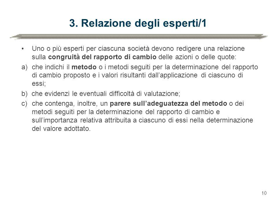 3. Relazione degli esperti/1