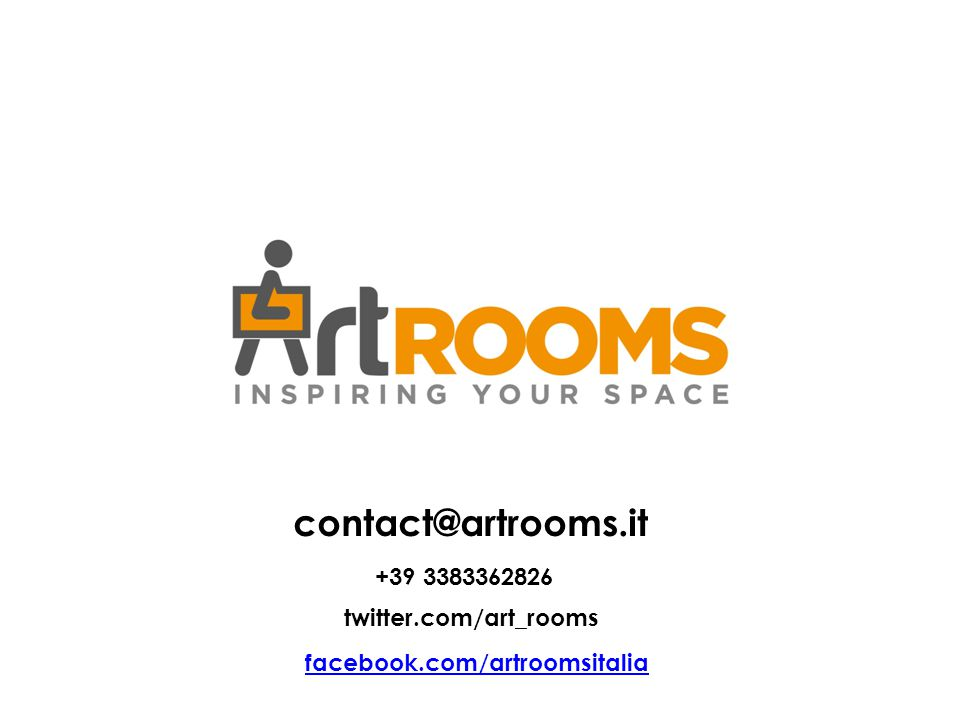 contact@artrooms.it +39 3383362826 twitter.com/art_rooms