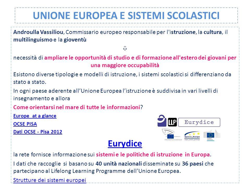 UNIONE EUROPEA E SISTEMI SCOLASTICI