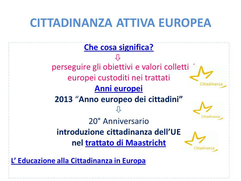 CITTADINANZA ATTIVA EUROPEA