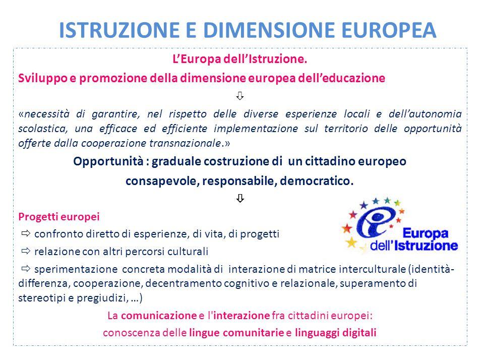 ISTRUZIONE E DIMENSIONE EUROPEA