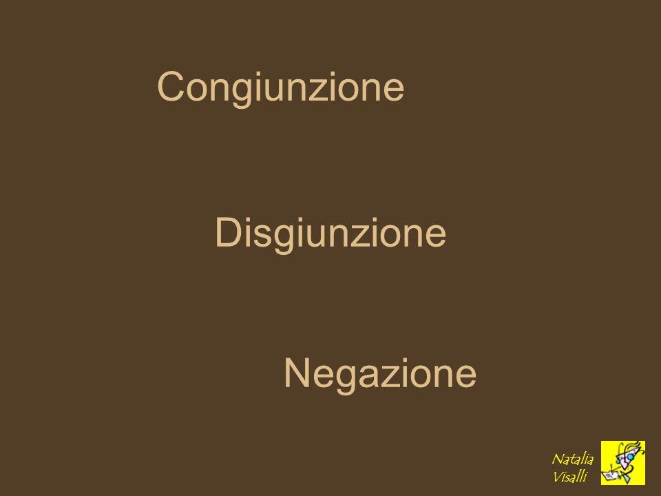 Congiunzione Disgiunzione Negazione Natalia Visalli