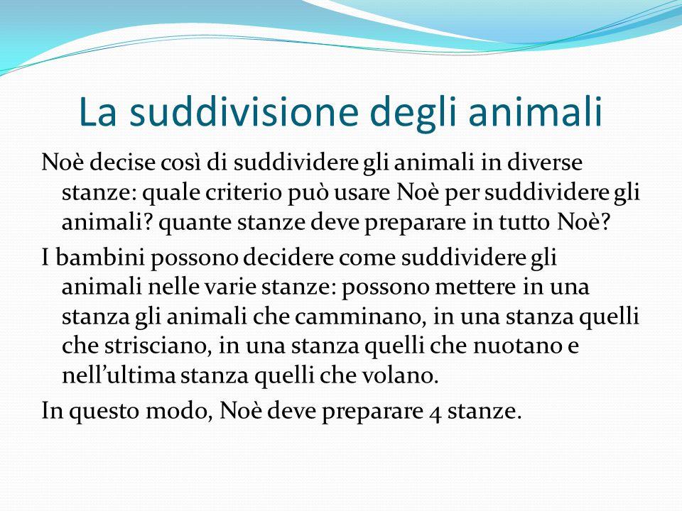 La suddivisione degli animali