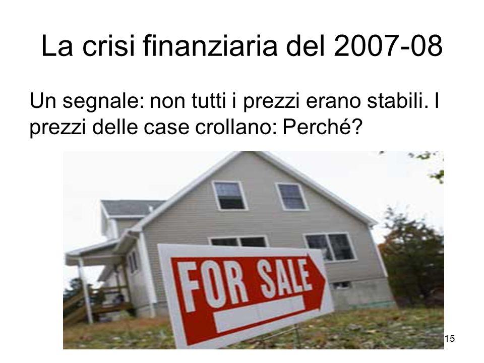 La crisi finanziaria del 2007-08