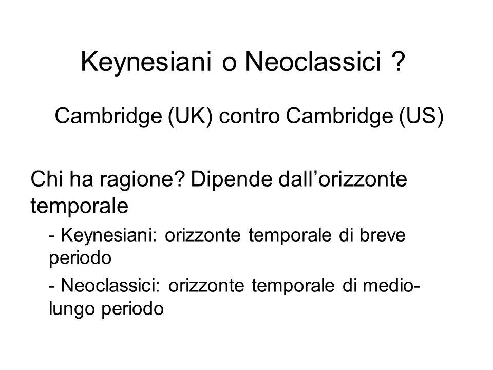 Keynesiani o Neoclassici