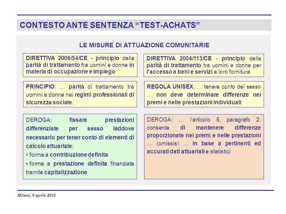 CONTESTO ANTE SENTENZA TEST-ACHATS