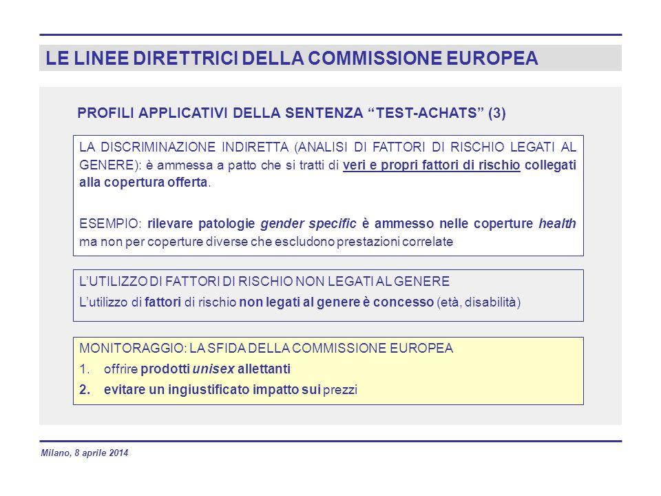 LE LINEE DIRETTRICI DELLA COMMISSIONE EUROPEA
