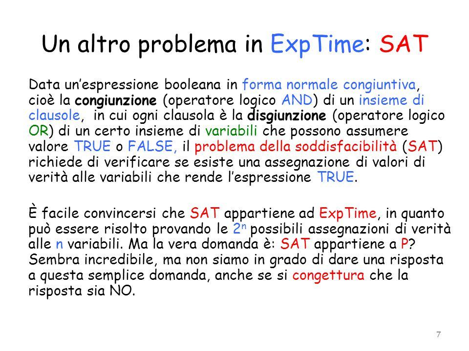 Un altro problema in ExpTime: SAT