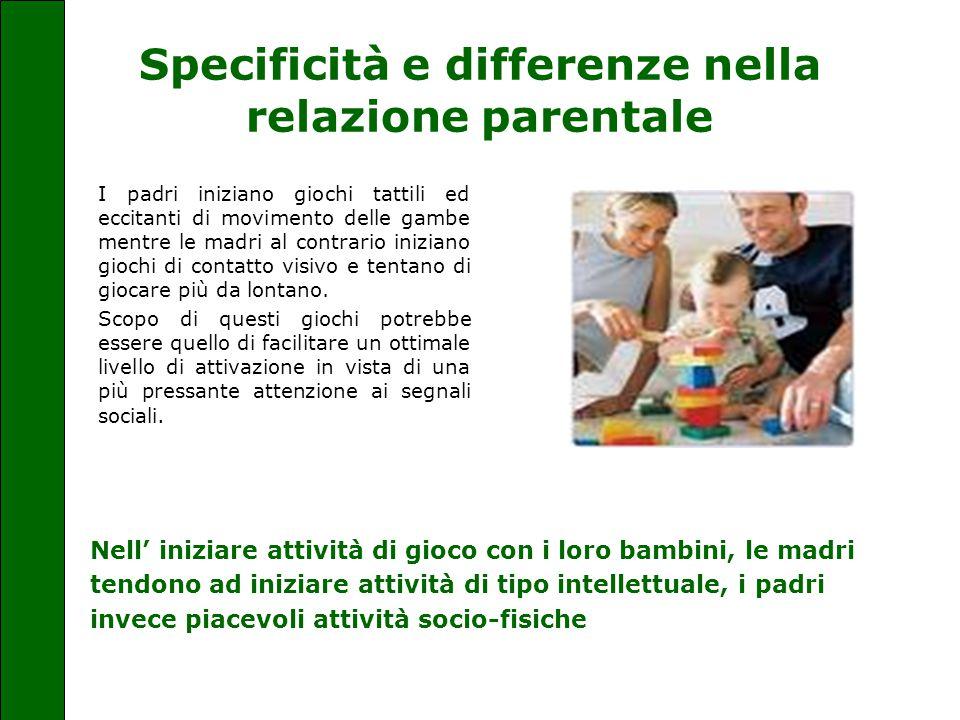 Specificità e differenze nella relazione parentale