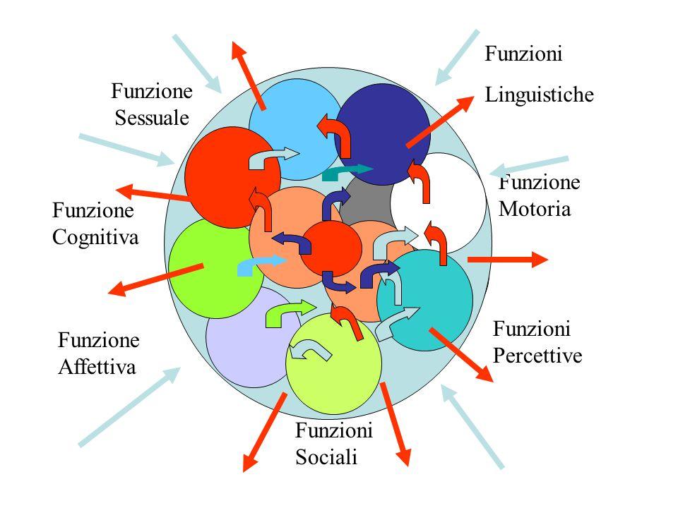 Funzioni Linguistiche. Funzione Sessuale. Funzione Motoria. Funzione Cognitiva. Funzioni Percettive.