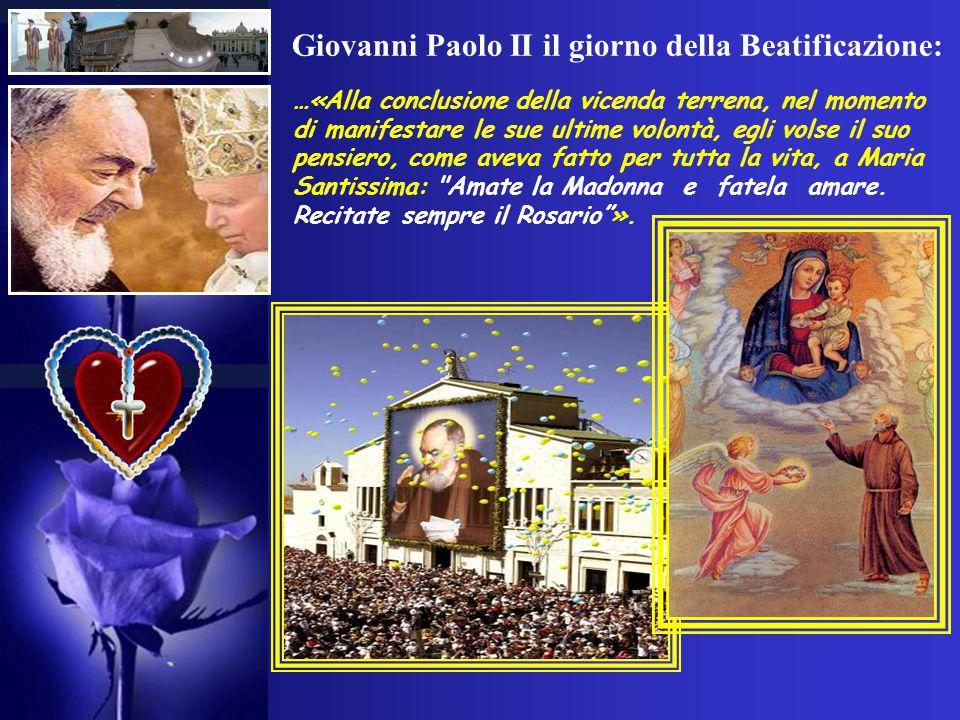 Giovanni Paolo II il giorno della Beatificazione: