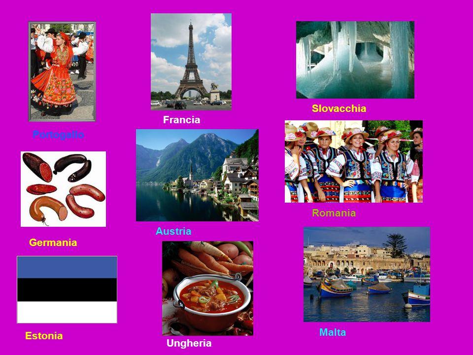 Slovacchia Francia Portogallo Romania Austria Germania Malta Estonia Ungheria