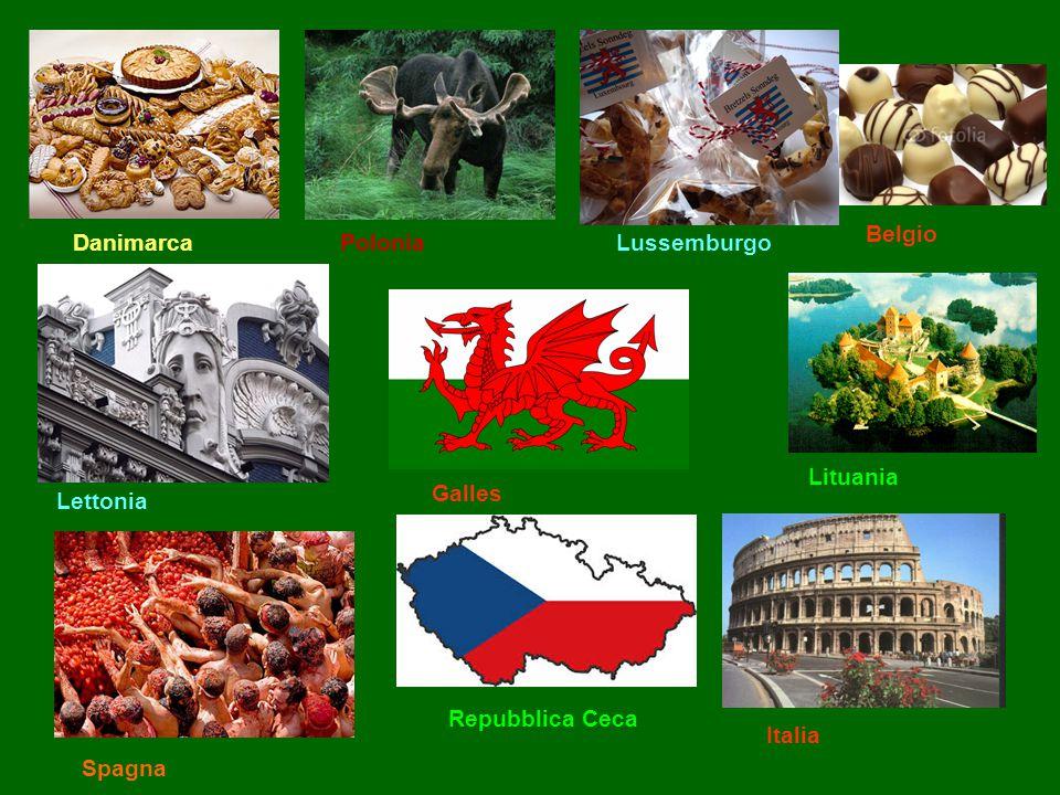 Belgio Danimarca Polonia Lussemburgo Lituania Galles Lettonia Repubblica Ceca Italia Spagna