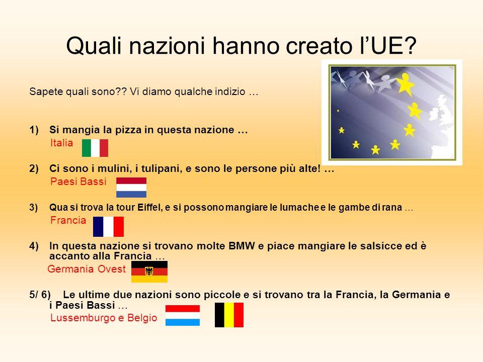 Quali nazioni hanno creato l'UE