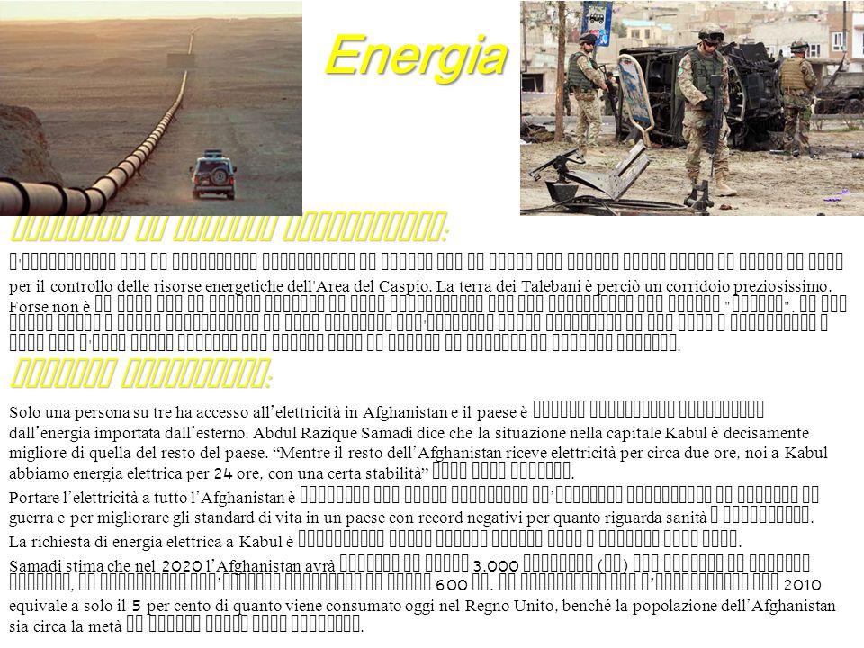 Energia Presenza di risorse energetiche: Consumi energetici: