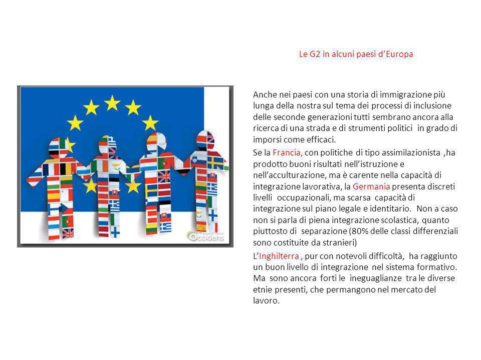 Le G2 in alcuni paesi d'Europa