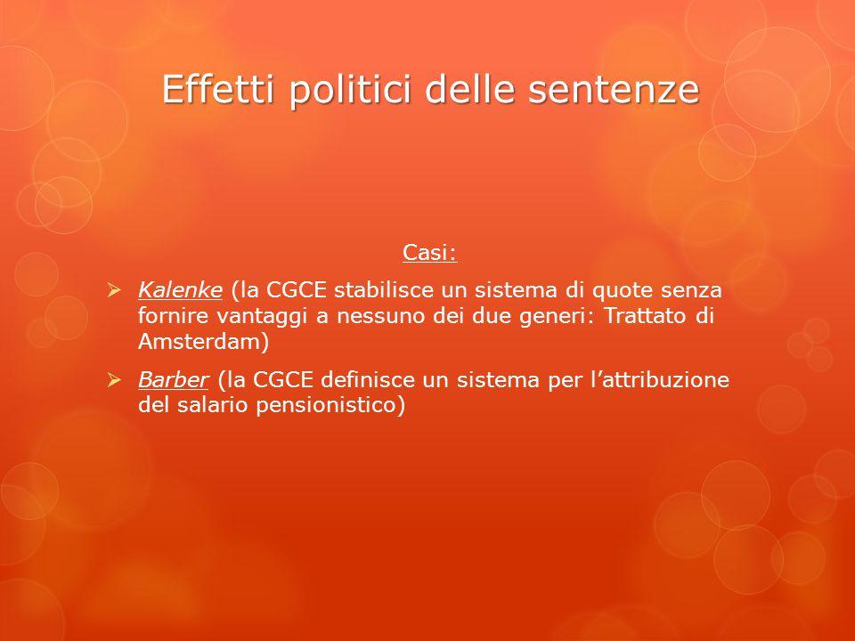 Effetti politici delle sentenze