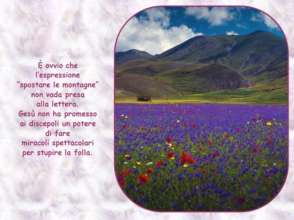 È ovvio che l'espressione spostare le montagne non vada presa alla lettera.