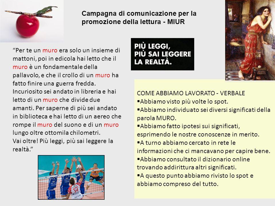 Campagna di comunicazione per la promozione della lettura - MIUR