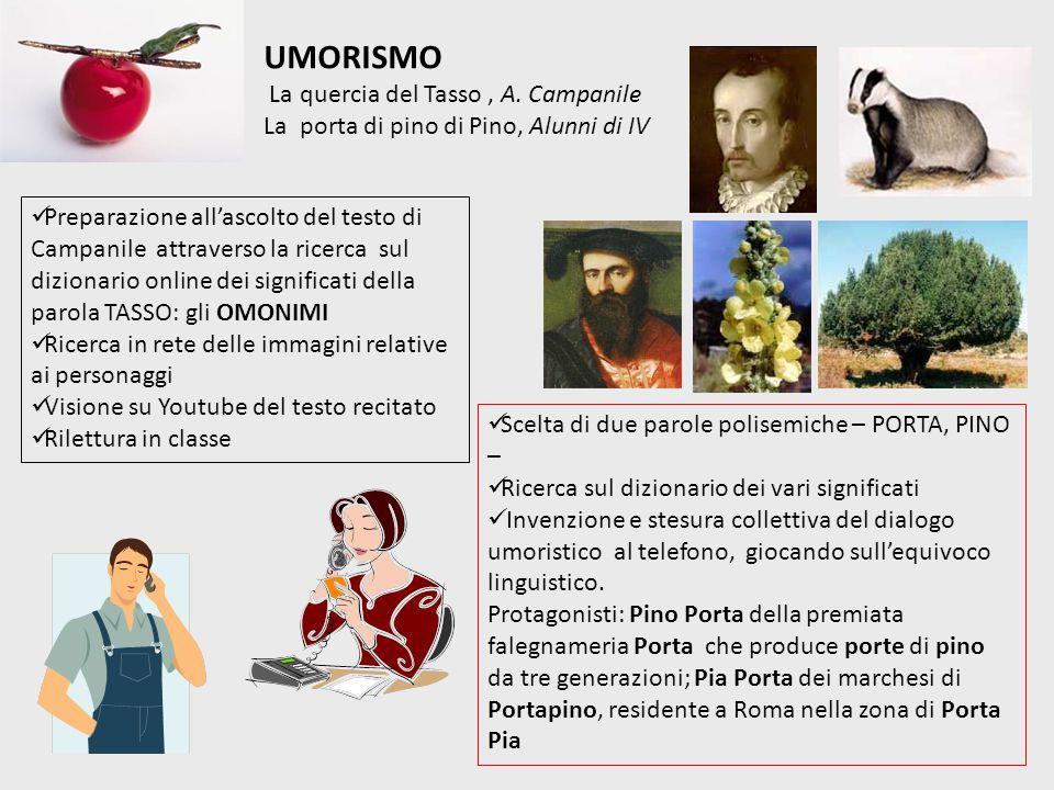 UMORISMO La quercia del Tasso , A. Campanile