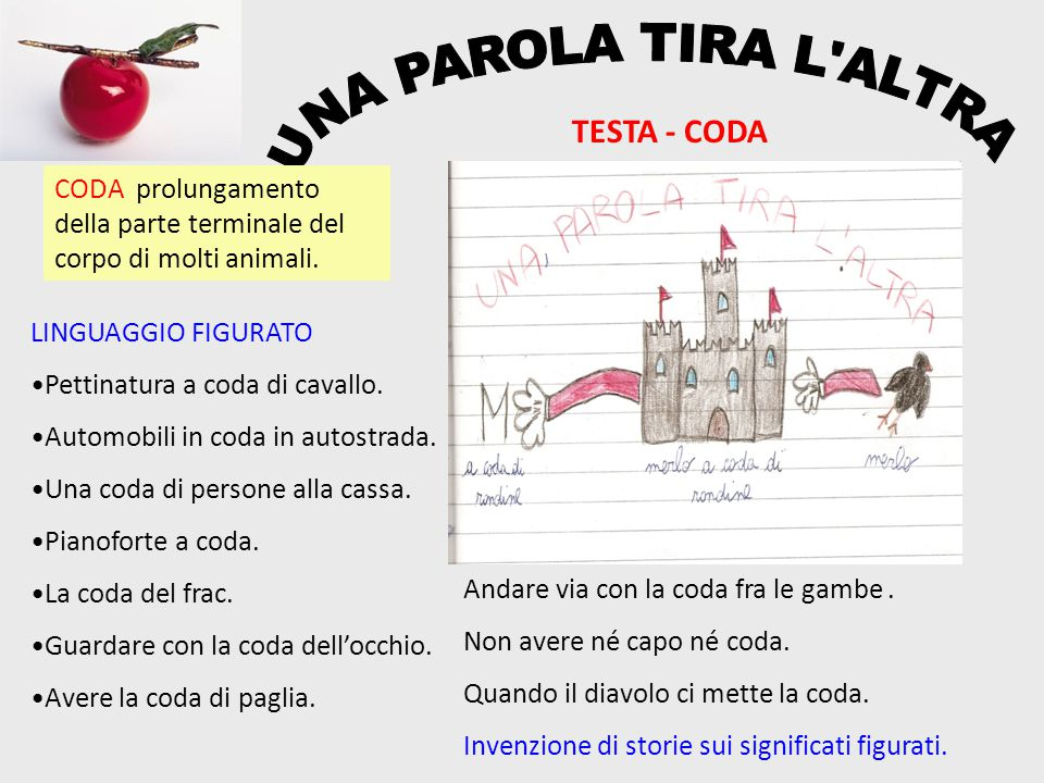 UNA PAROLA TIRA L ALTRA TESTA - CODA