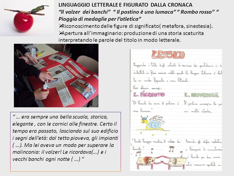LINGUAGGIO LETTERALE E FIGURATO DALLA CRONACA