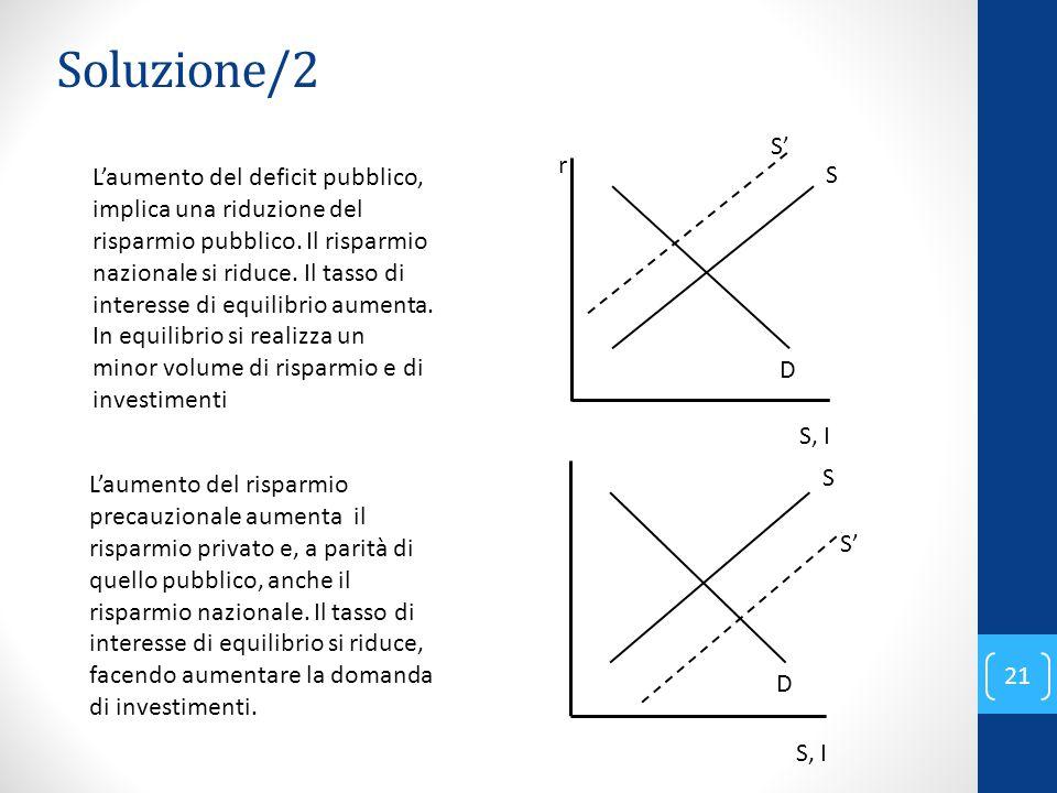 Soluzione/2 r. S, I. S. D. S'