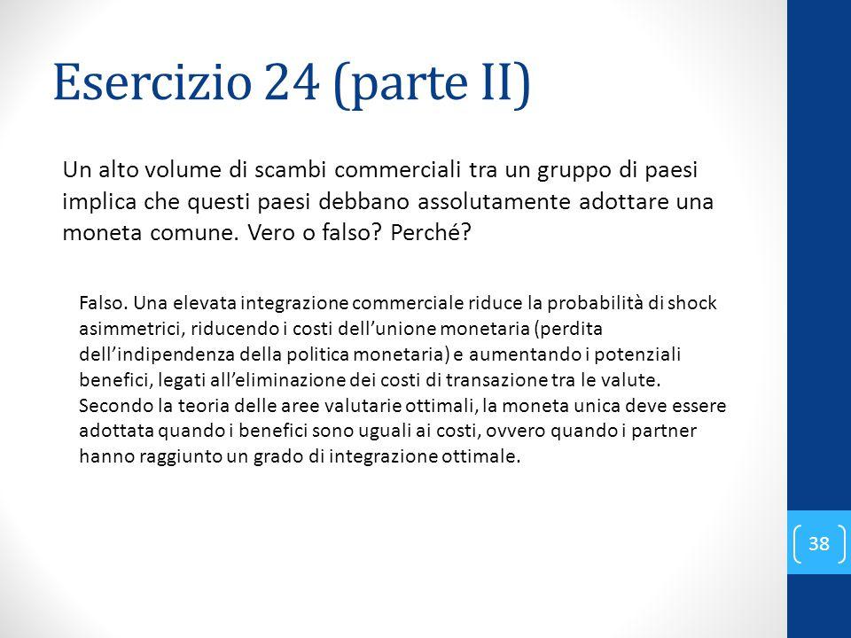 Esercizio 24 (parte II)