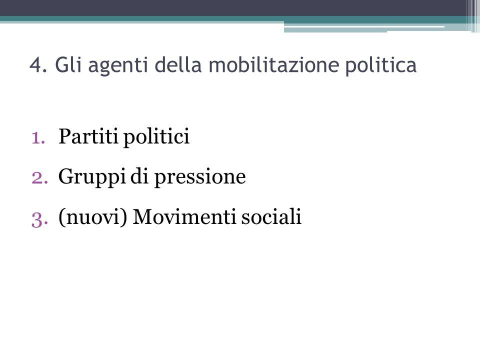 4. Gli agenti della mobilitazione politica