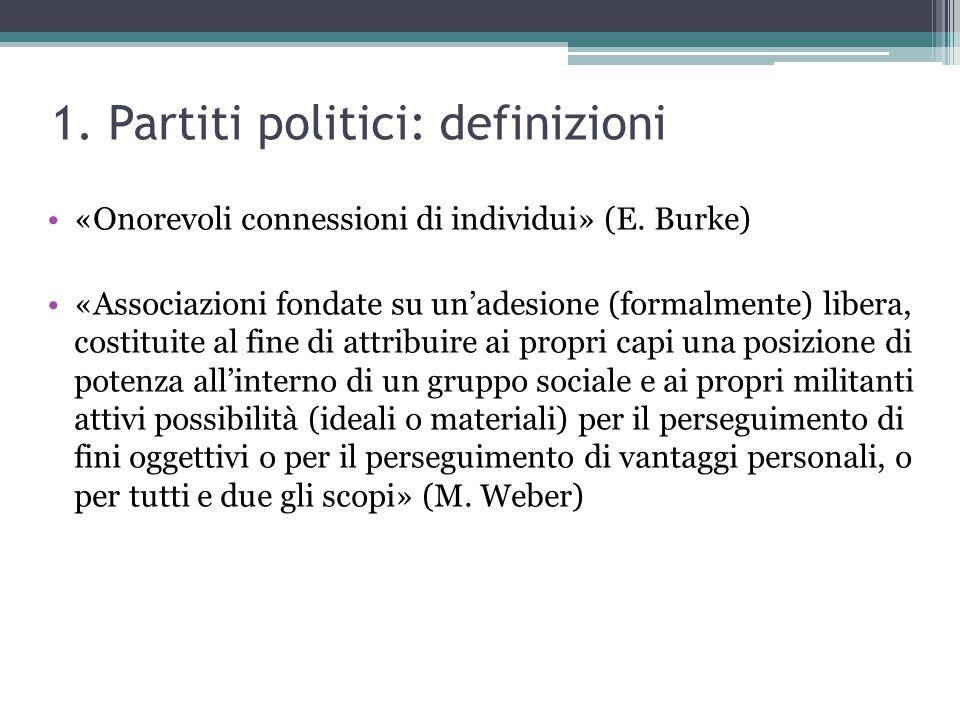 1. Partiti politici: definizioni