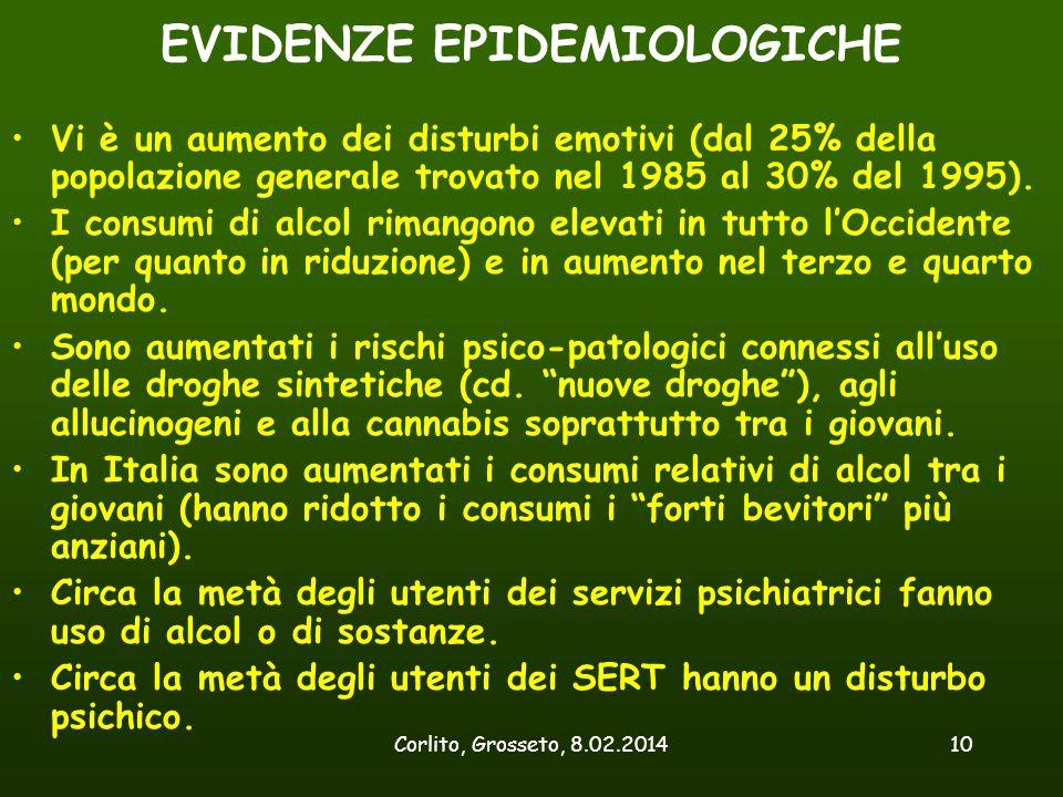 EVIDENZE EPIDEMIOLOGICHE