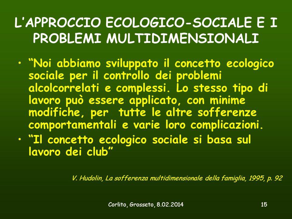 L'APPROCCIO ECOLOGICO-SOCIALE E I PROBLEMI MULTIDIMENSIONALI