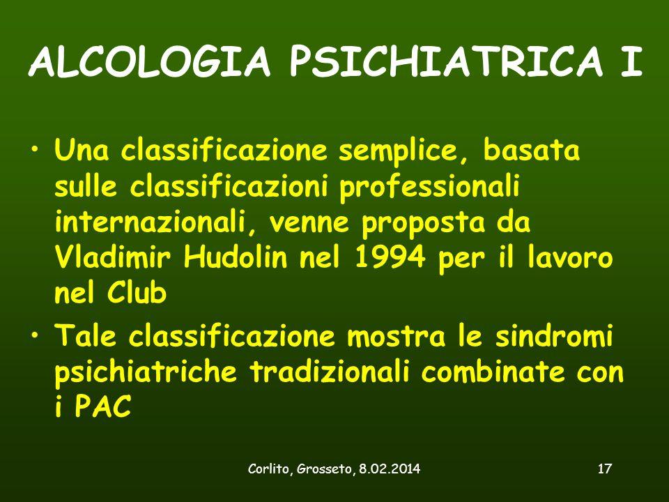 ALCOLOGIA PSICHIATRICA I