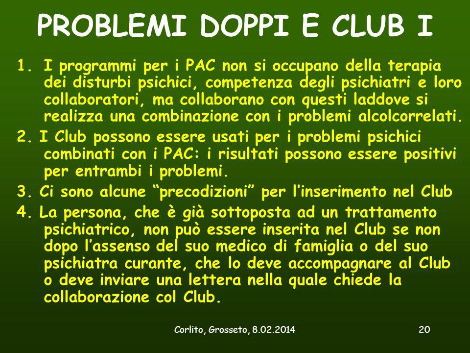 PROBLEMI DOPPI E CLUB I