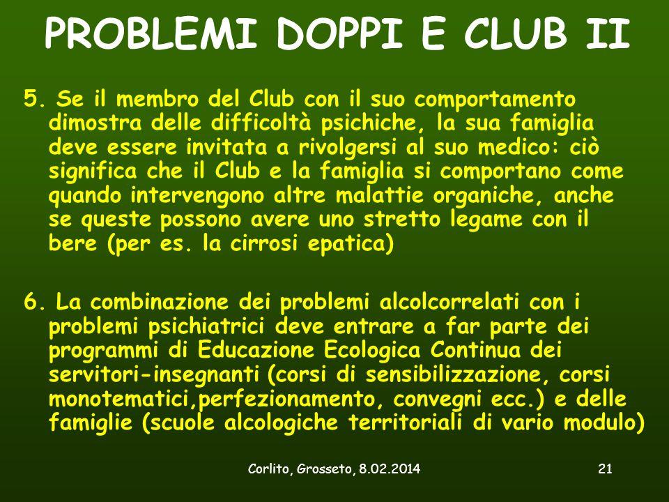 PROBLEMI DOPPI E CLUB II