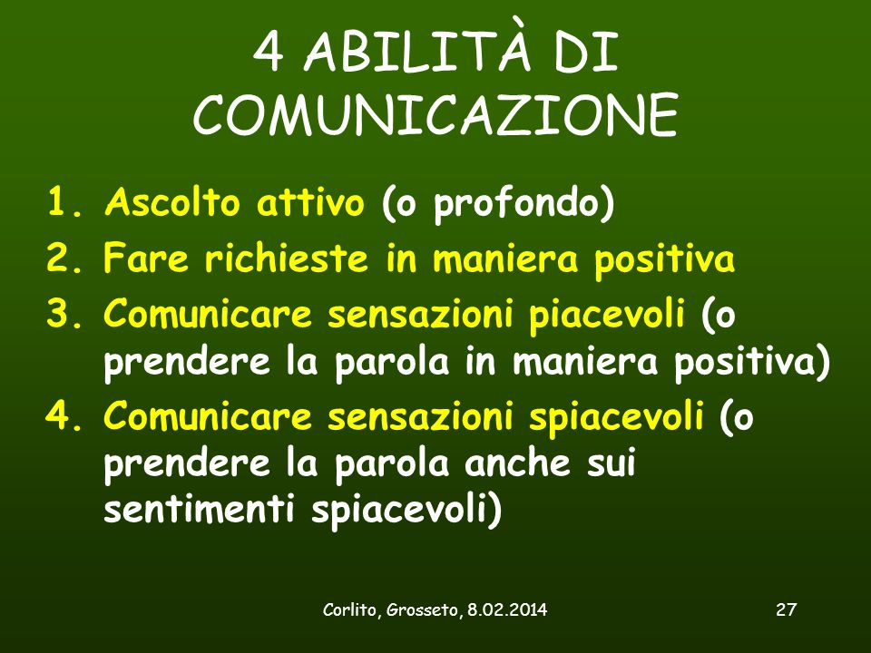 4 ABILITÀ DI COMUNICAZIONE