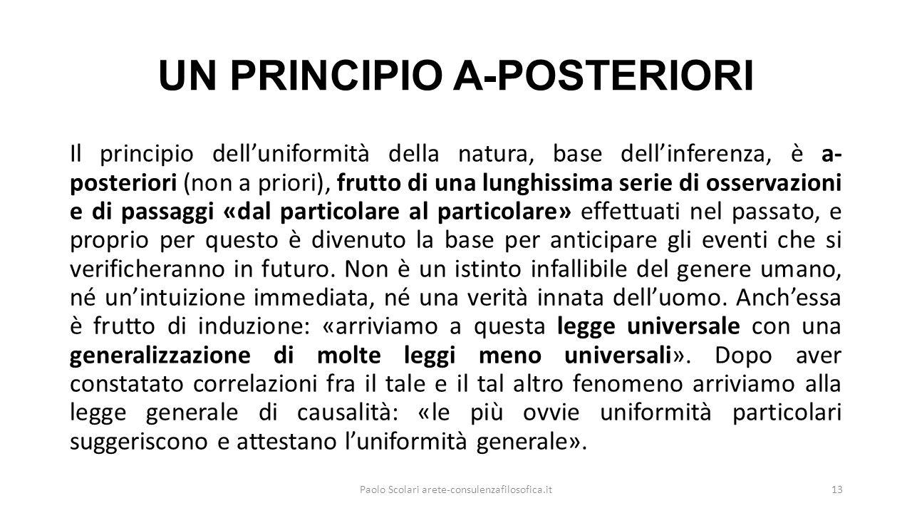 UN PRINCIPIO A-POSTERIORI